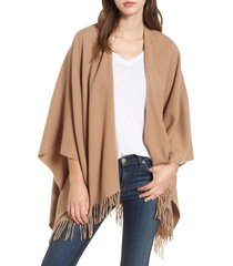 women's rag & bone cashmere poncho, size one size - brown