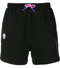 aape by *a bathing ape® drawstring logo shorts - black