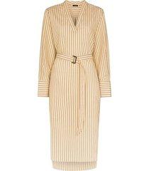 joseph janis striped belted dress - neutrals