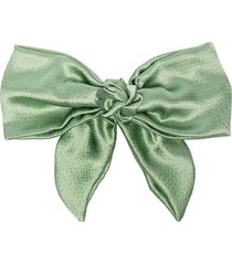 jennifer behr naples hammered silk hair clip - green