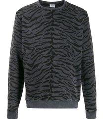 saint laurent animal-print sweatshirt - grey