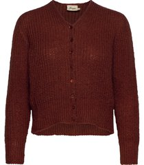 jenny stickad tröja cardigan brun jumperfabriken