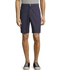 stretch-cotton shorts