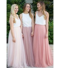 dressromantic floor length full tulle skirt plus size bridesmaid tulle skirt nwt