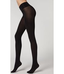 calzedonia 50-denier opaque seamless invisible tights woman black size 4