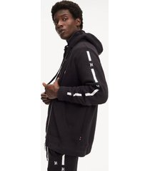 tommy hilfiger men's lewis hamilton relaxed fit hoodie jet black - xs