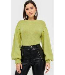 nly trend cozy puffy sleeve knit stickade tröjor