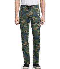 true religion men's cotton cargo pants - camo - size 34
