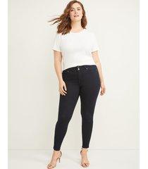 lane bryant women's tighter tummy high rise skinny jean - velvet dark wash 28l dark denim