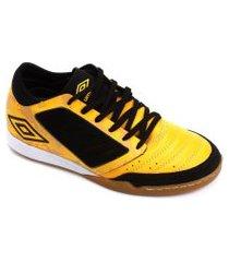 chuteira futsal umbro chaleira - amarelo e preto