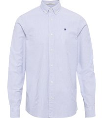 nos oxford shirt relaxed fit button down collar overhemd casual blauw scotch & soda