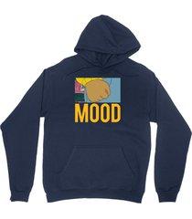 lebron mood shirt lbj instagram arthur fist unisex navy blue hoodie sweatshirt