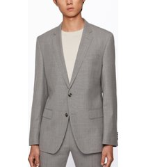 boss men's micro-pattern slim-fit suit