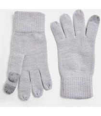 mens grey light gray touchscreen gloves
