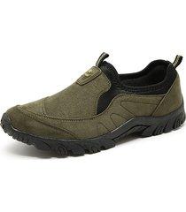 scarpe da passeggio leggere da uomo in canvas elastico