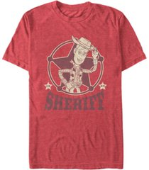 disney pixar men's toy story woody the sheriff short sleeve t-shirt