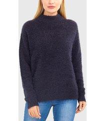 sweater brave soul negro - calce oversize