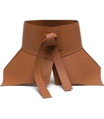 leather obi corset belt