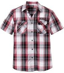 camicia a maniche corte slim fit (bianco) - rainbow