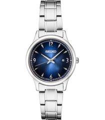 seiko women's essentials stainless steel bracelet watch 28.7mm