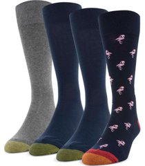 gold toe men's 4-pack santa flamingo socks