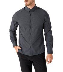 men's 7 diamonds santiago button-up performance shirt, size x-large - black
