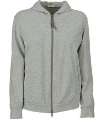 brunello cucinelli stretch cotton lightweight french terry sweatshirt with precious detail