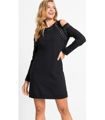 cold shoulder jurk met studs