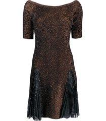 marco de vincenzo boat neck dress - black