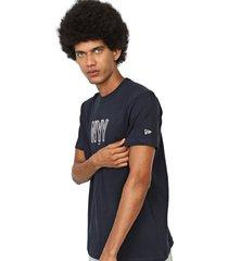 camiseta new era new york yankees azul-marinho - azul marinho - masculino - dafiti