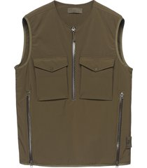 men's stone island ghost zip utility vest