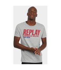 camiseta replay chronicle deluxe masculina