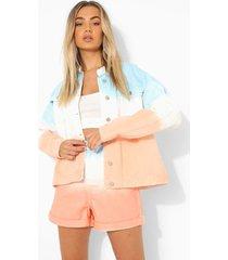 ombre oversized spijkerjas, peach