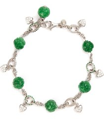 diamond jade 18k white gold bracelet