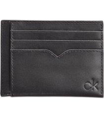 calvin klein men's leather logo card case