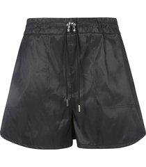 alexander mcqueen drawstring waist shorts