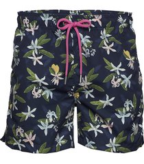 lemon flowers swim shorts cf badshorts blå gant