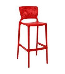 cadeira alta bar tramontina 92138040 safira summa vermelha