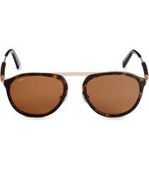 tod's women's 54mm round sunglasses - havana