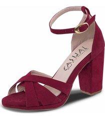 sandalias tacón alto haidee rojo para mujer croydon