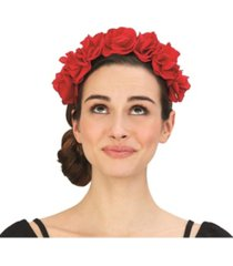 two's company bed of roses flower headband