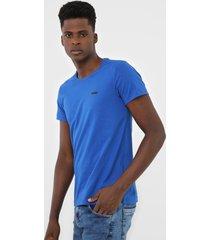 camiseta rock&soda logo azul - kanui