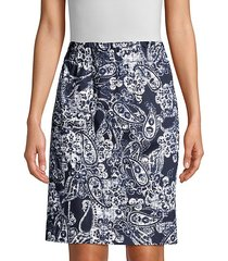 paisley print pencil skirt