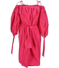 msgm wide puffy sleeves dress