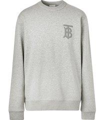 burberry thomas burberry monogram sweatshirt - grey