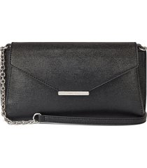 cartera  aspyn flap clutch  nine west - negro