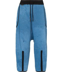 byborre dropped crotch oversized trousers - blue