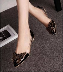 pp447cutie sequined butterfly pumps, size 4-8.5, black