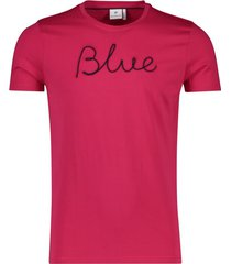blue industry t-shirt fuchsia