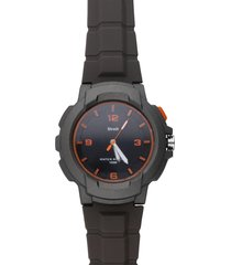harlem – orologio so fancy 3h grigio e arancio con cinturino grigio per uomo